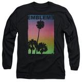 Long Sleeve: Emblem3- Palms Stamp Shirts