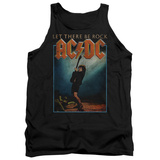 Tank Top: AC/DC- Let There Be Rock Distressed Stamp Tank Top