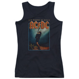 Juniors Tank Top: AC/DC- Let There Be Rock Distressed Stamp Shirts