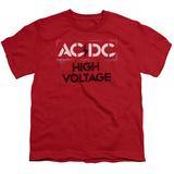 Youth: AC/DC- High Voltage Stencil T-shirts