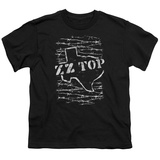 Youth: ZZ Top- Distressed Barbed Texas T-shirts