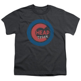 Youth: Cheap Trick- Distressed Logo Button T-shirts