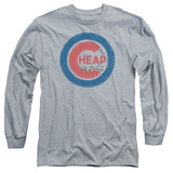 Long Sleeve: Cheap Trick- Distressed Logo Button T-shirts