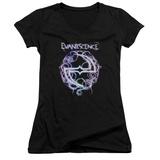 Juniors: Evanescence- Thorny Radiant Logo V-Neck Shirt