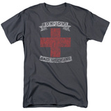Bon Jovi- Distressed Bad Medicine Cross T-Shirt