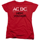 Womans: AC/DC- High Voltage Stencil T-shirts