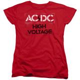 Womens: AC/DC- High Voltage Stencil T-shirts