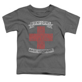 Toddler: Bon Jovi- Distressed Bad Medicine Cross T-Shirt