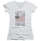 Juniors: Pack & Go (Unamericana) V-Neck T-Shirt