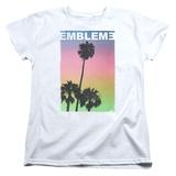 Womans: Emblem3- Palms Stamp T-shirts