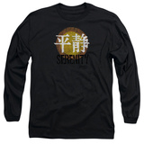 Long Sleeve: Firefly- Distressed Serenity Logo T-shirts