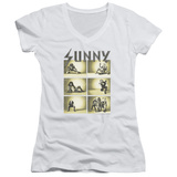Juniors: Always Sunny In Philadelphia- Rock Panels V-Neck Shirts