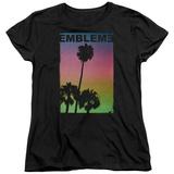 Womans: Emblem3- Palms Stamp T-Shirt