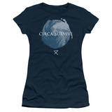Juniors: Circa Survive- Storm Pattern T-Shirt
