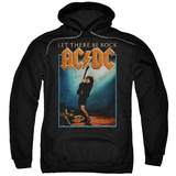 Hoodie: AC/DC- Let There Be Rock Distressed Stamp Pullover Hoodie