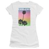 Juniors: Emblem3- Palms Stamp Shirts