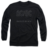 Long Sleeve: AC/DC- Back In Black Grey Block Logo Shirts