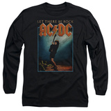 Long Sleeve: AC/DC- Let There Be Rock Distressed Stamp T-Shirt