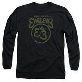 Long Sleeve: Emblem3- Namaste Here Distressed Shirts