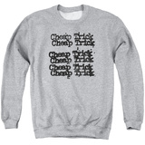 Crewneck Sweatshirt: Cheap Trick- Stacked Logo Shirts