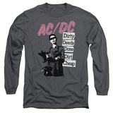 Long Sleeve: AC/DC- Dirty Deeds Stacked Signboards T-Shirt