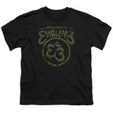 Youth: Emblem3- Namaste Here Distressed T-shirts