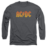 Long Sleeve: AC/DC- Gold Block Logo Long Sleeves