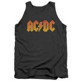 Tank Top: AC/DC- Gold Block Logo Tank Top