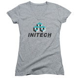 Juniors: Office Space- Initech Logo V-Neck T-Shirt