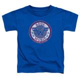 Toddler: Weezer- Distressed Rock Music Button T-Shirt