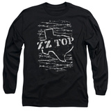 Long Sleeve: ZZ Top- Distressed Barbed Texas T-Shirt