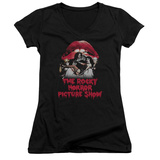 Juniors: Rocky Horror Picture Show- Casting Throne V-Neck Womens V-Necks