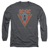 Long Sleeve: AC/DC- Flick Of The Switch Applique T-shirts