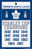 NHL: Toronto Maple Leafs Historic Champions Poster