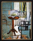 Myosotis vers la fenêtre Reproduction giclée encadrée par Henri Matisse
