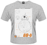 Star Wars: The Force Awakens- BB-8 Schematic T-Shirts