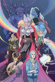 Mighty Thor No. 8 Cover Art Featuring: Odin, Malekith, Thor (Female), Loki, Laufey and More Print by Marguerite Sauvage