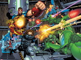 Thunderbolts No. 1 Panel Featuring: Atlas, Mach-X, Moonstone, Fixer, Winter Soldier, S.H.I.E.L.D. Posters by Jon Malin