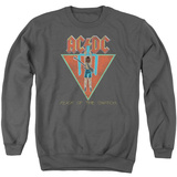Crewneck Sweatshirt: AC/DC- Flick Of The Switch Applique T-shirts