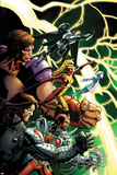 Thunderbolts No. 1 Cover Art Featuring: Mach-X, Atlas, Moonstone, Kobik, Winter Soldier, Fixer Poster by Mark Bagley