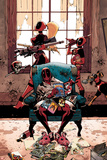 Deadpool Cover Art Featuring: Lady Deadpool, Kidpool, Dogpool, Headpool, Deadpool Obrazy