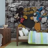 Disney - Mickey Mouse & Donald Duck Trouble - Vlies Non-Woven Mural Papier peint intissé