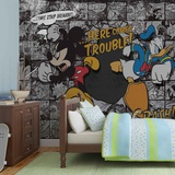 Disney - Mickey Mouse & Donald Duck Trouble - Vlies Non-Woven Mural Vægplakat