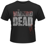 The Walking Dead- Splattered Block Logo Shirts