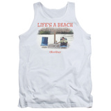 Tank Top: Office Space- Life Is A Beach Tank Top