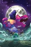 Moon Girl and Devil Dinosaur No. 7 Cover Art Kunstdrucke von Amy Reeder
