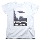 Womans: X Files- Believe Poster T-Shirt
