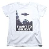 Womans: X Files- Believe Poster T-Shirt