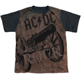 Youth: AC/DC- Rock Cannon Black Back T-shirts