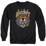 Crewneck Sweatshirt: Rise Against- Tiger Bomb Shirts